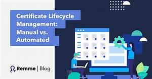 Certificate Lifecycle Management  Manual Vs  Automated