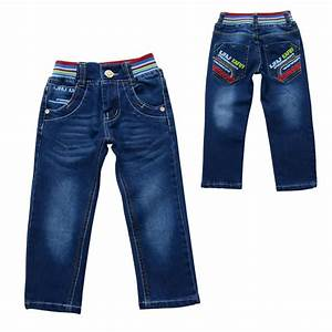Boys Long Jeans Pants Kids Clothing Boy Casual Elastic Long Pants | Car Interior Design