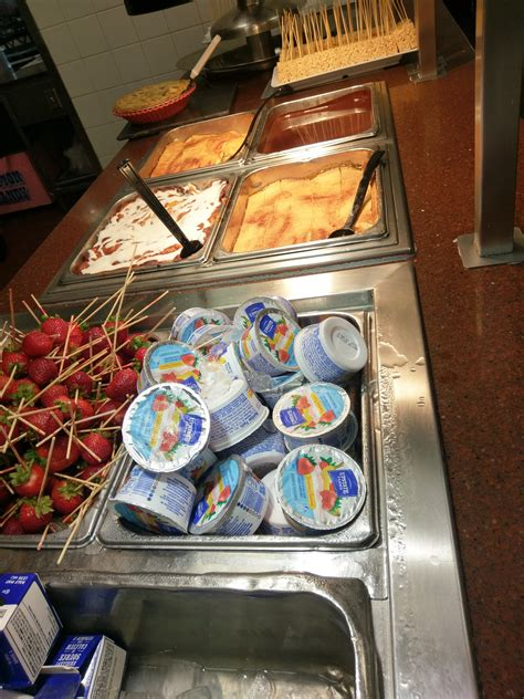 corral golden breakfast buffet yogurt cereals flavoured various milk cold options sweet there