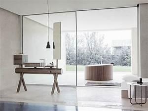 meuble de salle de bain en bois avec vasque integree With difference entre meuble et non meuble