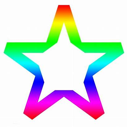 Star Rainbow Clipart Colors Cliparts Clipground