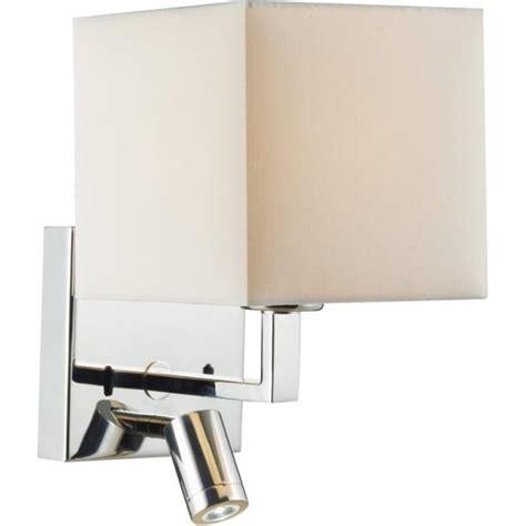 dar lighting anvil switched 2 light polished chrome wall bracket with led task l castlegate