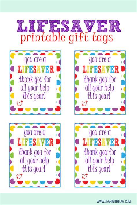 lifesaver gift tag printable nurse appreciation gifts