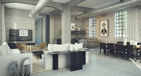 Rustic Home Interior - industrial design for loft style buffalo apartments
