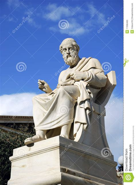 statue of plato at the academy of athens greece royalty