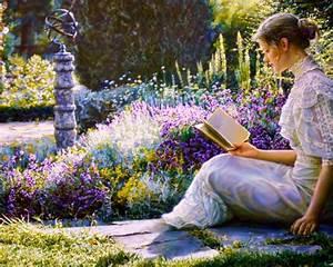 1280x1024 Woman Reading Book Garden desktop PC and Mac ...