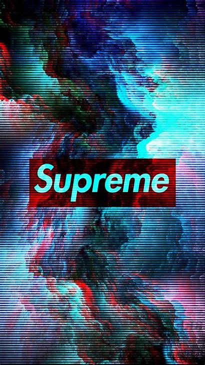 Supreme Glitch Wallpapers Mobile 3d Iphone Cool