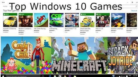 Top 10 Free Games On Windows Store For Laptop Pc