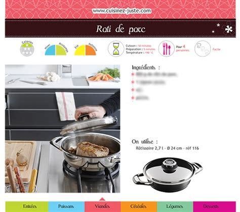 recettes de cuisine pdf fiche recette viande rôti de porc version pdf cuisine