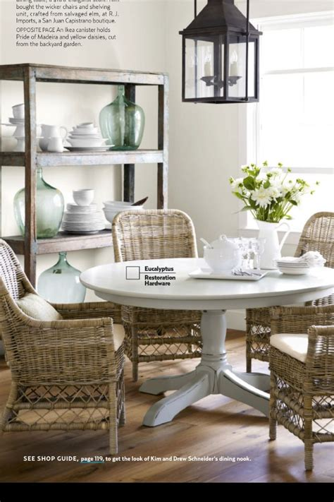 casual kitchen table and chair dining room from country living magazine decor