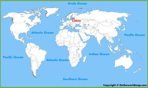 Latvia location on the World Map