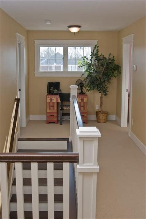 Decorating Ideas For Upstairs Landing by Upstairs Hallway Craftsman Staircase Indianapolis
