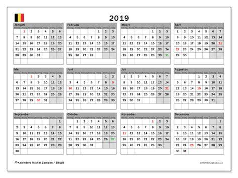 Kalender 2019, België