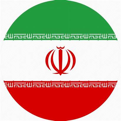 Flag Iran Icon Ir Circle Transparent Country