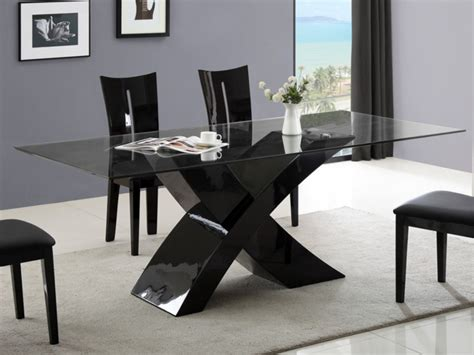 table a manger noir laque table 224 manger hollis 8 couverts en mdf laqu 233 blanc ou noir