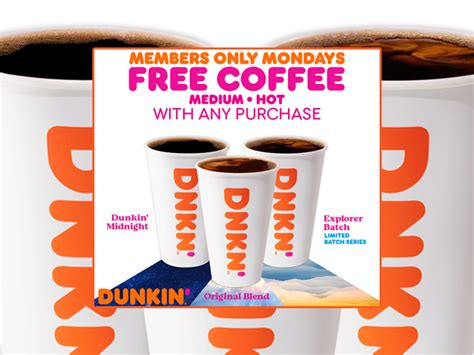 Free dunkin' donut w/ drink purchase for rewards members. Dunkin' Is Bringing Back 'Free Coffee Mondays' For The Month Of February 2021 - Chew Boom