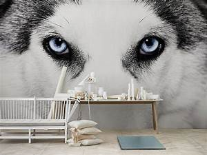 Wolf Black and White Mural Painting Viahouse Com
