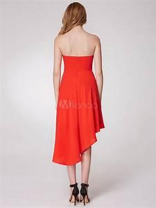 robe sublimee de cocktail a ligne en satin stretch orange With robe de cocktail combiné avec capteur activité