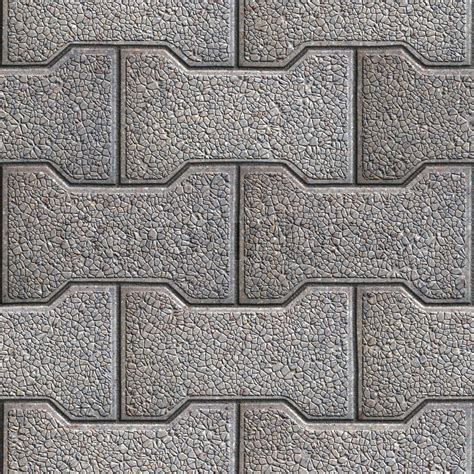 Gray Figured Paving Slabs. Seamless Tileable Texture