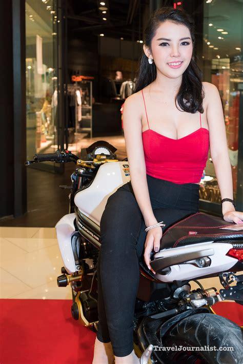 motorcycles  pretty girls  bmf bangkok thailand