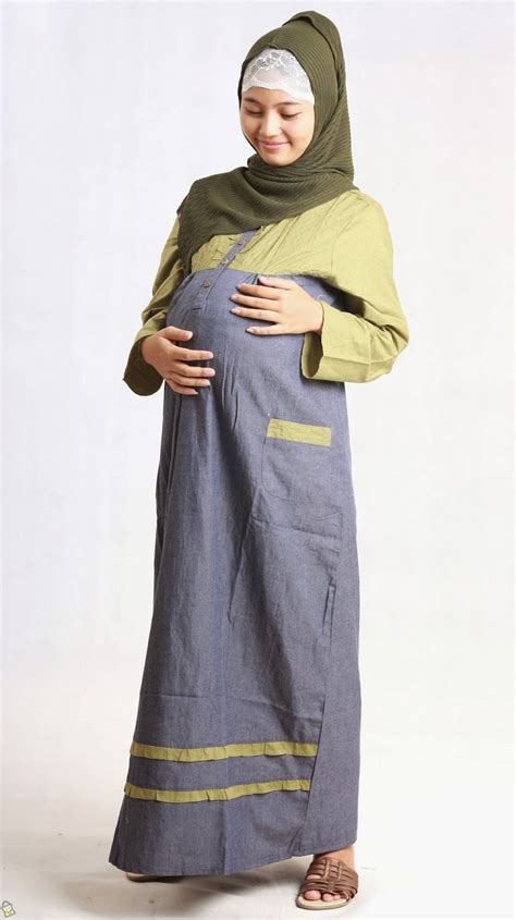 contoh baju muslim  ibu hamil   intip yuk