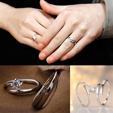 lover promise rings jewelry engagement ring wedding ring couple rings 640577661893 ebay