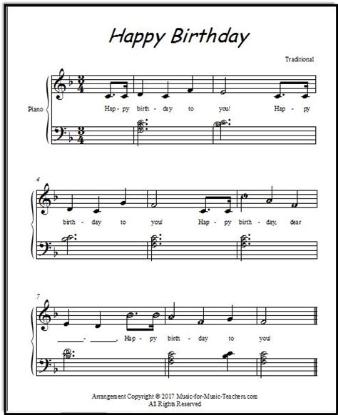 Watch the video and play these notes with your left hand while playing the melody with the thanks for checking out this happy birthday to you piano tutorial. Happy Birthday for piano with little chords and a few lettered notes for elementary students ...