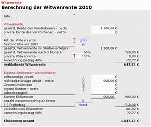 Witwenrente Berechnen 2018 : gro e witwenrente berechnen america 39 s best lifechangers ~ Themetempest.com Abrechnung