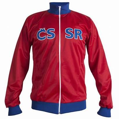 Football Retro Tracksuit Jumper Jacket Czechoslovakia Raw
