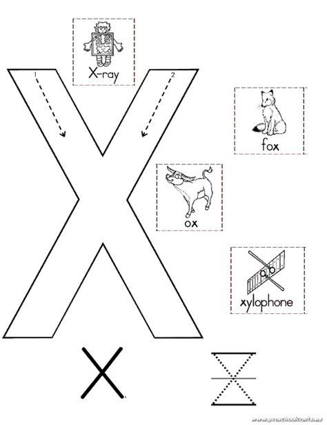 preschool letter x uppercase letter x worksheet for kindergarten preschool 274
