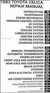 1983 Toyota Celica Original Repair Shop Manual 83 Gt Gts St Oem Service Book