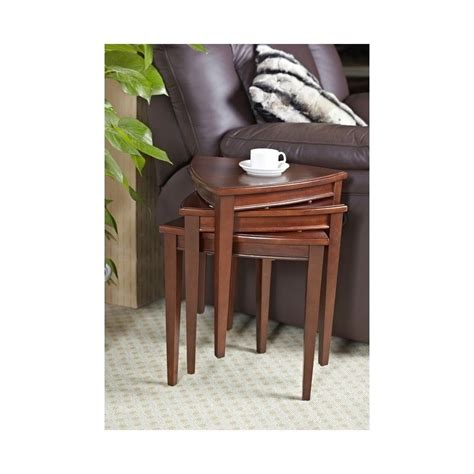 leick furniture shield stacking corner table set in glazed