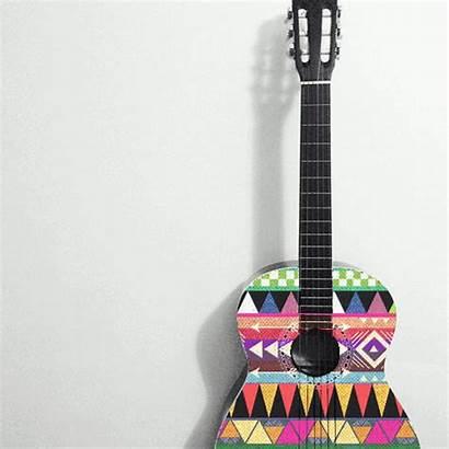 Guitar Instrumentos Musicales Acoustic Guitars Coloured Chitarra