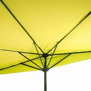 Sonnenschirm Kleiner Durchmesser : sonnenschirm gartenschirm sonnenschutz halbrund lemon gelb breite 300x156 cm ebay ~ Markanthonyermac.com Haus und Dekorationen