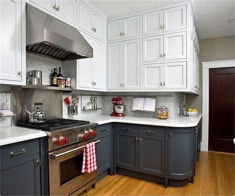 white upper cabinets grey lower upper lower versus inner outer centsational style 262 | white upper gray lower kitchen cabinets
