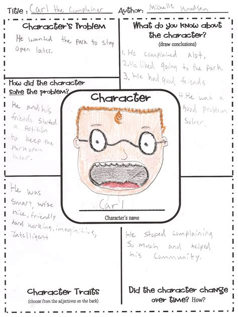 2nd grade character traits worksheets new calendar