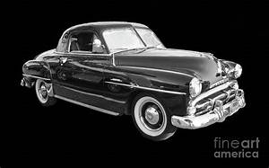 1951 Plymouth Concord 2 Door Black And White Poster Edges