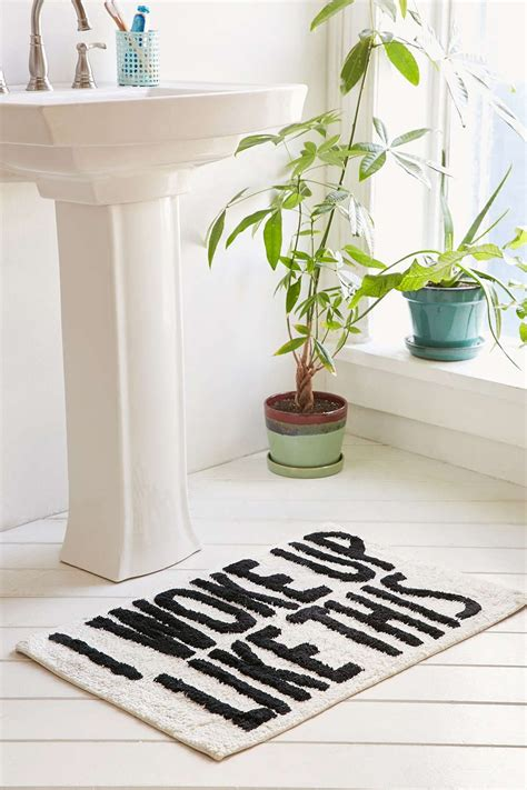 woke    bath mat bath home decor home