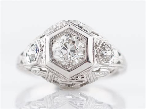 Antique Engagement Ring Edwardian/early Art Deco 2.72 Old European Cut Diamond In Platinum Antique Wine Jugs Wall Sconces For Sale John Deere Tractor Gold Frame Building Materials Estate Rings Schlage Pewter Door Knobs Sioux Falls Antiques