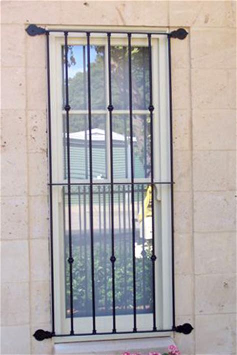 Window Sill Grill by Iron Curtains Wrought Iron Window Grilles