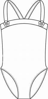 Template Swimsuit Leotard Coloring Deviantart Bathing Suit Pages Templates Sketch Favourites Deviant sketch template