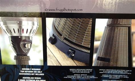 wicker patio heater costco costco woven wicker outdoor patio heater frugal hotspot