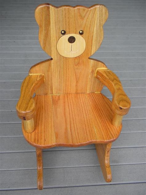 plans  teddy bear rocking chair plan rated  stars