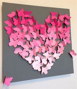 Diy ombre butterfly wall art