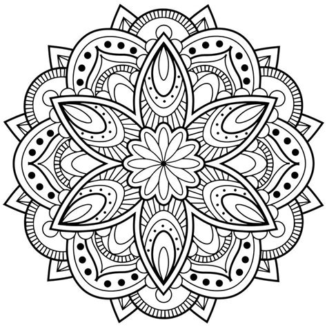 Drawing Mandala  Coloring Pages  Print Coloring