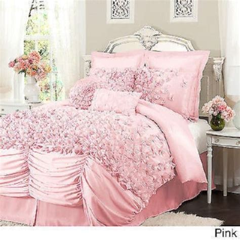 super girly bedding images  pinterest bedroom