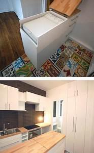 Petit Lave Linge Pour Studio : meuble malin pour cacher le lave linge am nagement ~ Carolinahurricanesstore.com Idées de Décoration