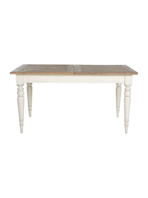 shabby chic extending dining table mango wood furniture house of fraser