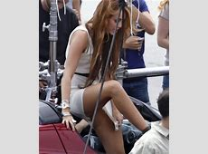Miley Cyrus Upskirt No Panties Picture Hot Spicy Celebritie