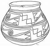 Coloring Pot Pages Pottery Flower Pots Texas Printable Sheet Indian Sketch Drawings Vase Casas Flowers Bible Pixels Ceramics Mexico Sketchite sketch template